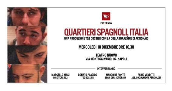 Reportage Rai 2 Quartieri Spagnoli, Napoli: Roberto Fabbri firma colonna sonora